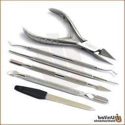Podiatry Nail Surgery Kit Toenail Cutter, Ingrown Pusher, Na