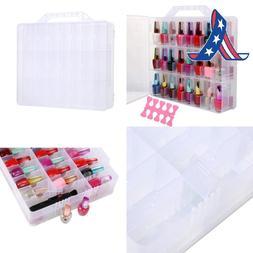 portable clear double side nail polish organizer
