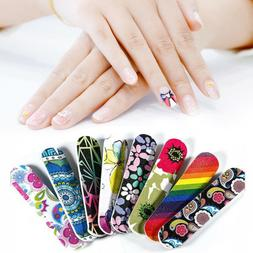 Pro Double Sided Manicure Nail File Mini Durable Colorful Po
