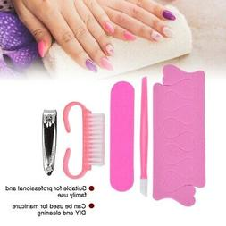 Professional 5pcs Manicure Pedicure Kit Clipper Pusher Nail