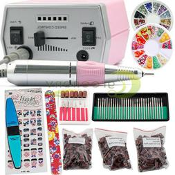 Pro Electric Nail Drill File Machine Acrylic Manicure Pedicu