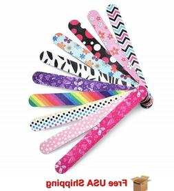 Professional Nail File for Women Girls, Natural Emery Boards