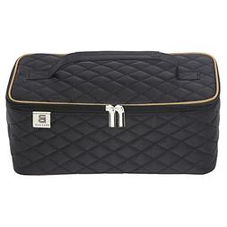 Ballage Quilted Travel Makeup Bag with Mirror To Organize Yo