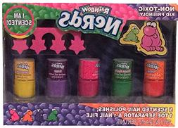 Rainbow NERDS Scented Nail Polish Set with Toe Separator & N