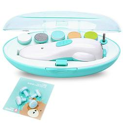 Fzcono Rechargeable Electric Baby Nail File Set Portable New