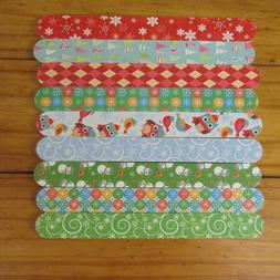 set lot of 9 holiday christmas emery