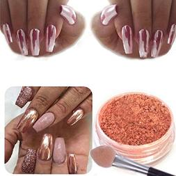 Naladoo 1 Box Sexy Rose Gold Nail Mirror Powder Glitter Chro