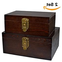 Solid Wooden Box Wood Boxes for Jewelry Trinkets Hobby Favor