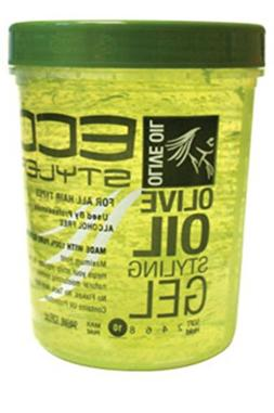 Eco Styler Styling Gel 32 oz. Olive Oil  with Free Nail File