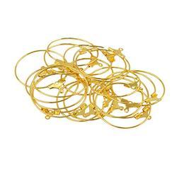 20Pcs 25mm Thin Large Hoop Earrings Big Hoop Dangle Round Hu