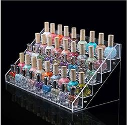 5 Tiers Acrylic Finger Nail Polish Table Rack Display,Lipsti