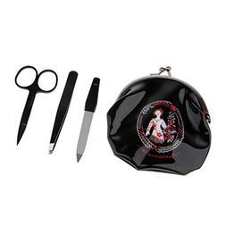 Homyl Tweezers Set, Stainless Steel Eyebrows Tweezer Scissor
