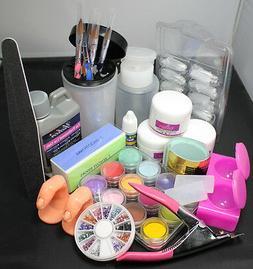 US Seller Acrylic Liquid Powder Nail Art Tips Pump Files Pen