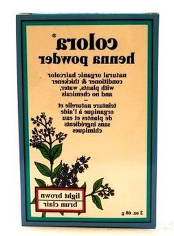 Colora Henna Veg-Hair Light Brown 2 oz.  with Free Nail File