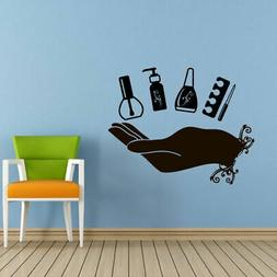 Wall Decal Nails Salon Nail Polish Nail File Varnish Polish
