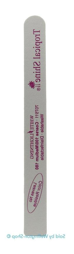 Tropical Shine White Lightning Cushion Nail File Coarse 100