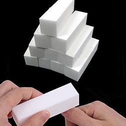 10PCS White Nail Art Buffer File Block Pedicure Manicure Buf