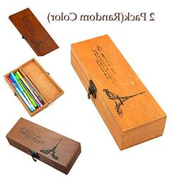 Sealive 2 Pack Wooden Workmanship Jewelry Box,Store Retro Vi